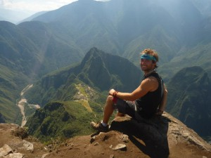 Atop Mt. Machu Picchu enjoying the sites - August 2012